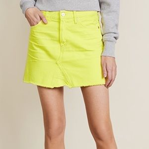 Citizen of Humanity Cutoff Skirt in Blaze Yellow